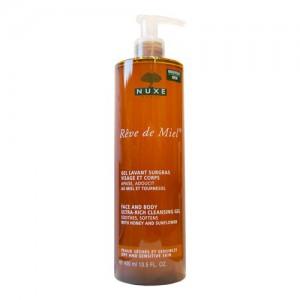 Купить Нюкс гель очищающий обогащенный для лица и тела Рэв Де Мьель (Nuxe Reve De Miel) 400ml из категории Уход за телом