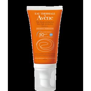 Купить Авене Солнцезащитная эмульсия без ароматизаторов SPF 50 (Avene, Solaire) 50 ml из категории Солнцезащитные средства