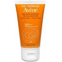 Авене крем солнцезащитный тонирующий для чувствительной кожи SPF50+ (Avene, Solaire)