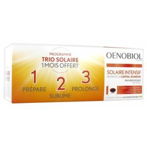 Купить Оенобиол Солар Интенсив молодость кожи капсулы усилитель загара (Oenobiol, Youth Sun)  3 х 30 капсул из категории Пищевые добавки