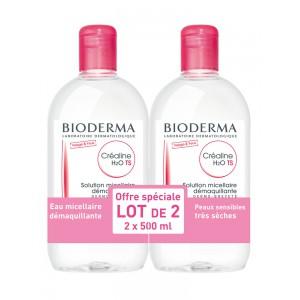Биодерма Клеарлайн/Сенсибио мицеллярный раствор H2O TS  (Bioderma, Crealine/Sensibio) 2х500 ml