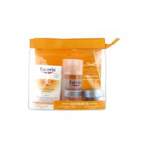 Эуцерин защита от солнца солнцезащитный матирующий флюид SPF 50+ мицеллярный лосьон + ночной крем (Eucerin, Sun Protection) 50+125+20ml