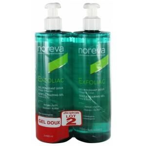 Купить Норева эксфолиак нежный очищающий гель (Noreva, Exfoliac)  2х400ml из категории Очищение/демакияж
