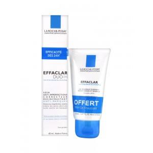 Ля Рош-Позе Крем-гель для жирной проблемной кожи Эфаклар Дуо+очищающий гель в подарок (La Roche-Posay Effaclar) 40 ml+50мл