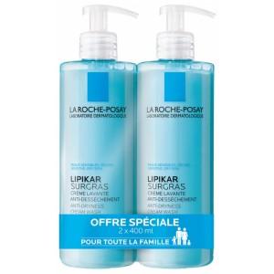Купить Ля Рош-Позе Липикар Сюргра очищающий концентрированный крем для душа (La Roche-Posay, Lipikar) 2x400 ml из категории Уход за телом