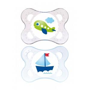 Купить Мам набор анатомических силиконовых пустышек 0-6 месяцев  (Мам) из категории Мама и малыш