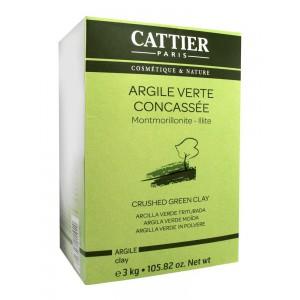 Каттьер микронизированная зеленая глина (Cattier) 3кг
