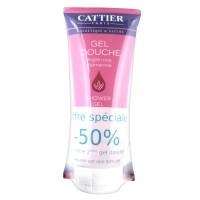 Каттьер Гель для душа розовая глина Пальмароза (Cattier) 2 х 200мл