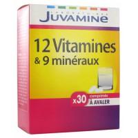 Жувамин 12 витаминов и 9 минералов (Juvamine, Multivitamins) 30 таблеток