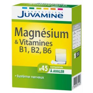 Купить Жувамин Магний И Витамины В6 В2 В1 (Juvamine, Minerals) 45 таблеток из категории Пищевые добавки