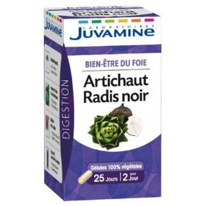 Купить Жувамин фиточай артишок и черная редька  (Juvamine, Health Promises) 50 Капсул из категории Пищевые добавки