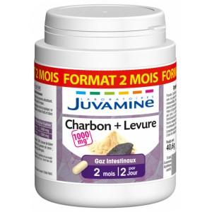 Купить Жувамин Фито уголь + дрожжи (Juvamine, Health Promises) 90 капсул из категории Пищевые добавки