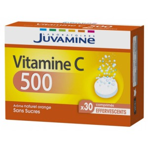 Жувамин витамин C 500 (Juvamine, Multivitamins) 30 шипучих таблеток