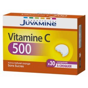 Купить Жувамин витамин C 500 (Juvamine, Multivitamins) 30 таблеток из категории Пищевые добавки