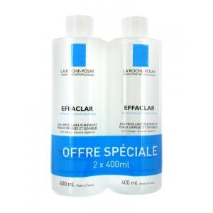 Купить Ля Рош-позе Эфаклар очищающая мицеллярная жидкость для снятия макияжа (2 х 400 мл) из категории Жирная и проблемная кожа