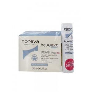 Купить Норева Акварева интенсивный увлажняющий ночной уход + помада в подарок (Noreva Aquareva)  50мл из категории
