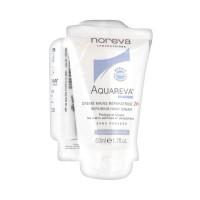 Норева Акварева крем для рук 24ч восстанавливающий 2 х 50 мл + стик для губ (Noreva Aquareva)