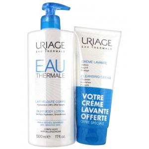 Купить Урьяж шелковистый лосьон для тела+очищающий крем в подарок (Uriage) 500мл+200мл из категории Увлажнение и питание