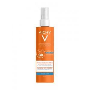 Купить Виши Капиталь Солей Beach Protect спрей защита от обезвоживания SPF 30 (Vichy Capital Soleil) 200ml из категории Для лица и тела