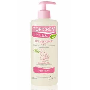 Топикрем Био гель очищающий для тела и волос 2 в 1 (Topicrem, Bebe Bio) 500 ml