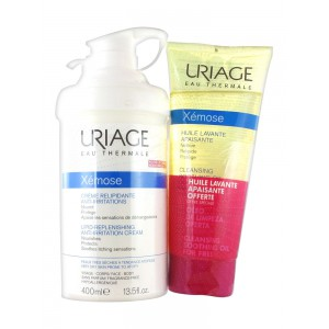 Урьяж Ксемоз липидовосстанавливающий крем от раздражений+масло в подарок (Uriage, Xemose) 400мл+200мл