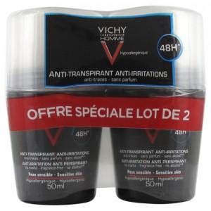 Купить Виши Homme Дезодорант для чувствительной кожи  (Vichy Homme) 50х2 ml из категории Для мужчин